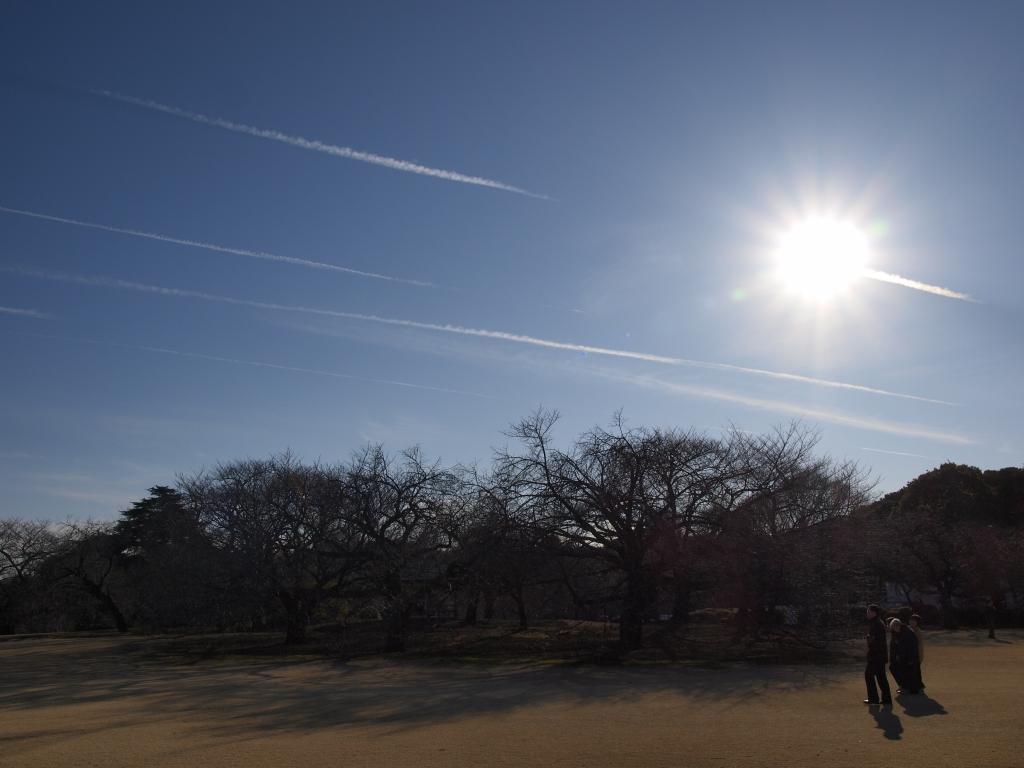 飛行機雲と家族