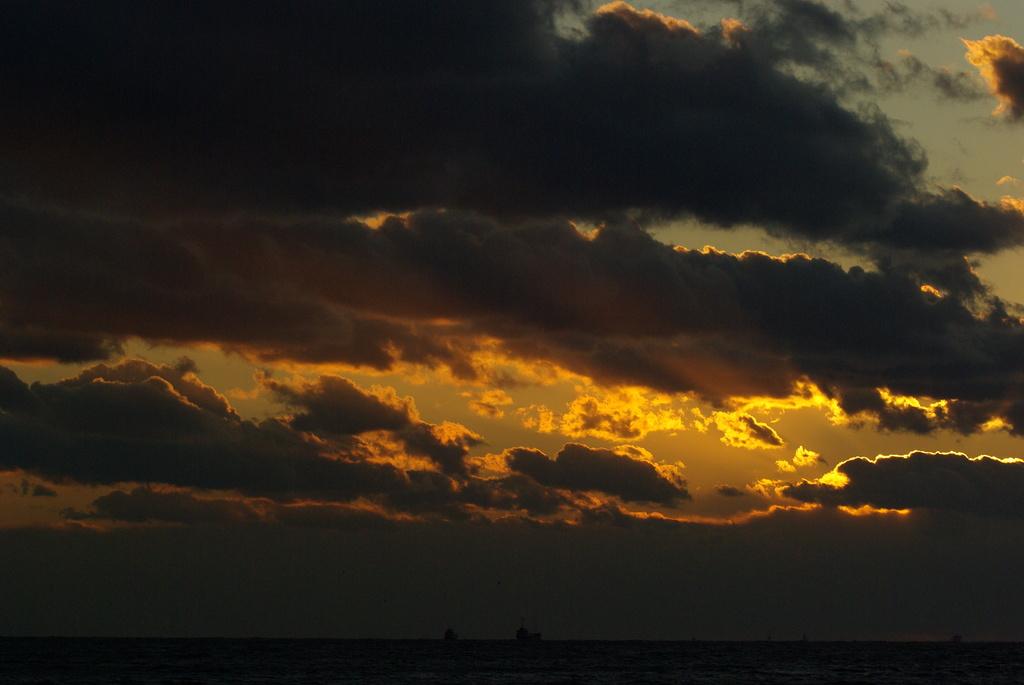明石の夕日