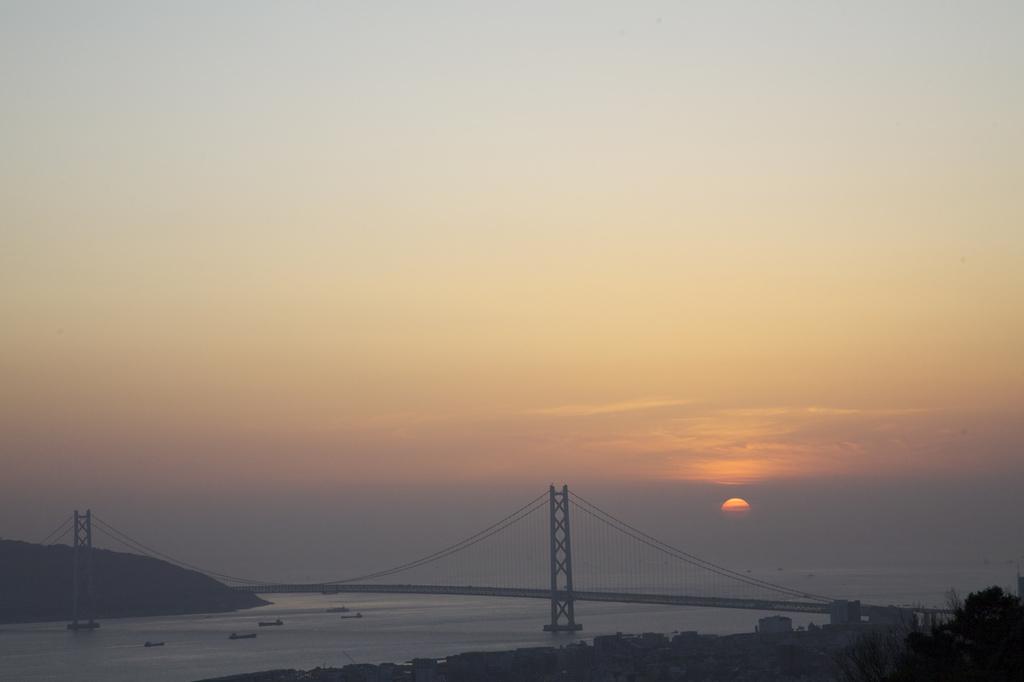 明石海峡大橋 夕日
