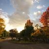 鶴見緑地 夕日