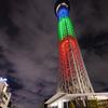東京スカイツリー「光の3原色」特別ライティング