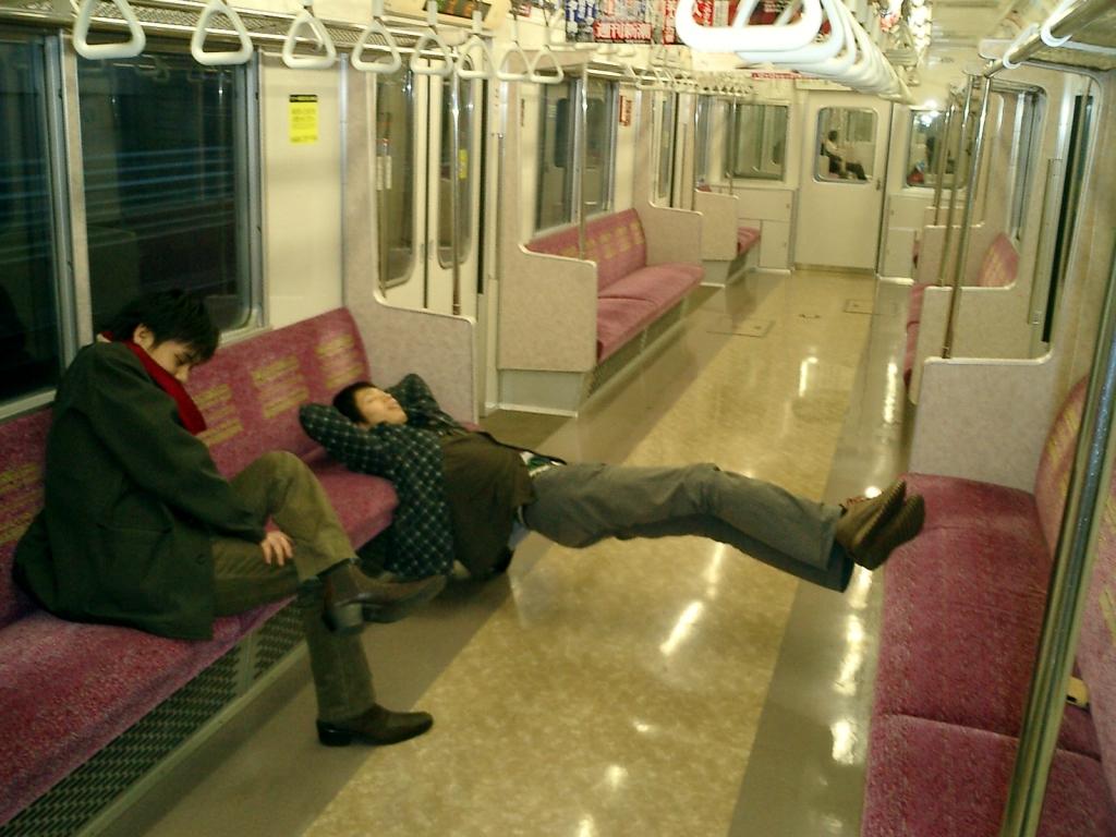 終電で寝過ごす