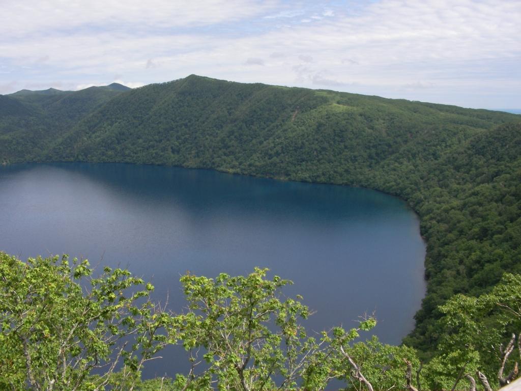 霧のない摩周湖