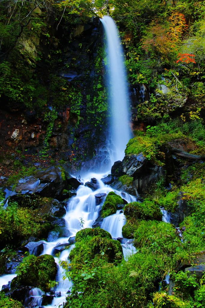 響き渡る水の流れ