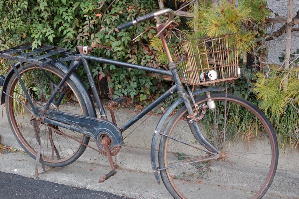 ロッドブレーキの自転車