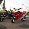 親子でバイク