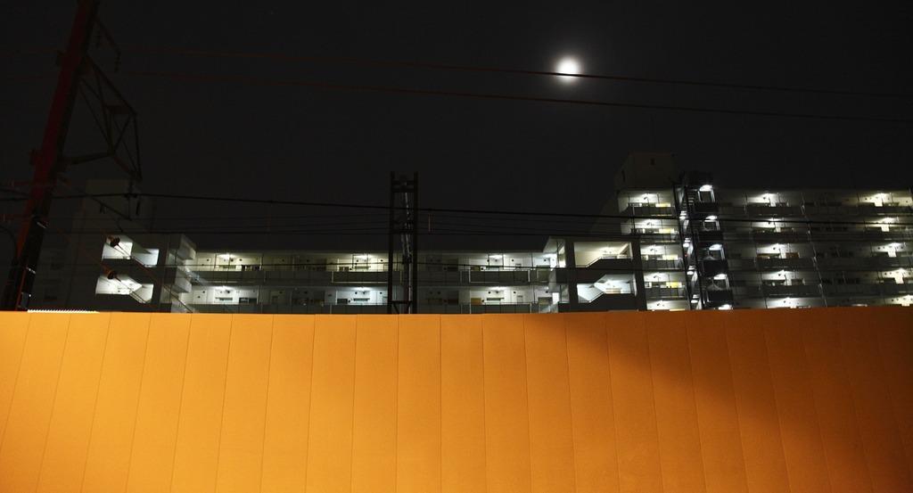 光のキャンバス・都会の明かり