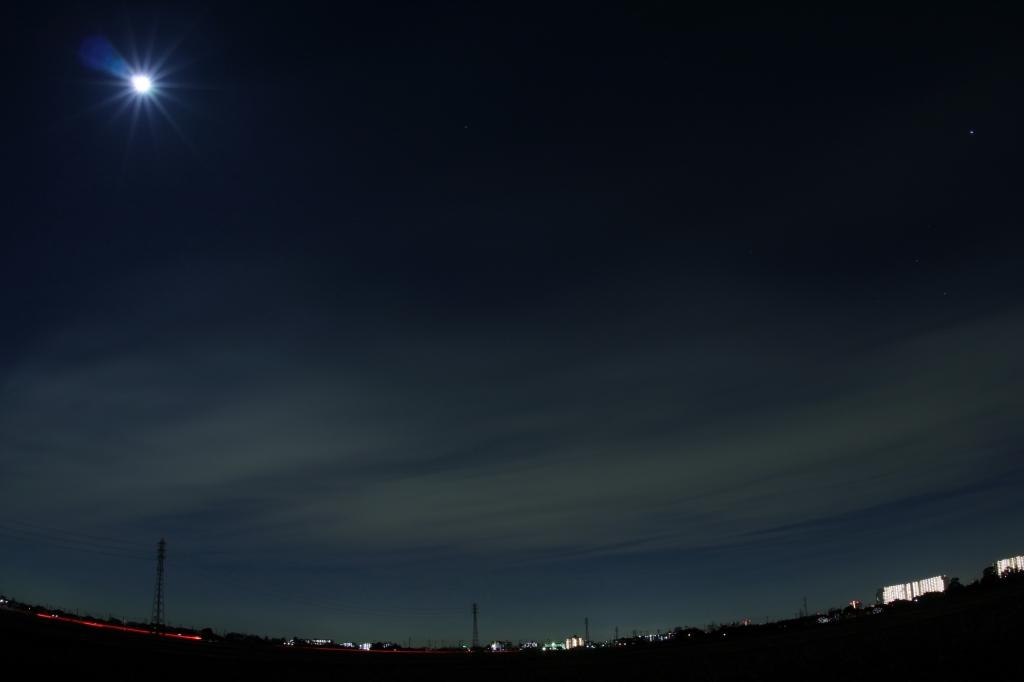 近所の夜空