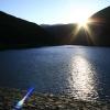 名栗湖にて、逆光のゴースト