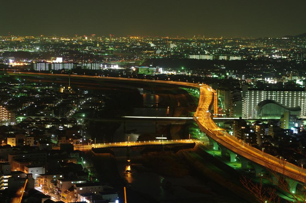 五月山からの夜景01