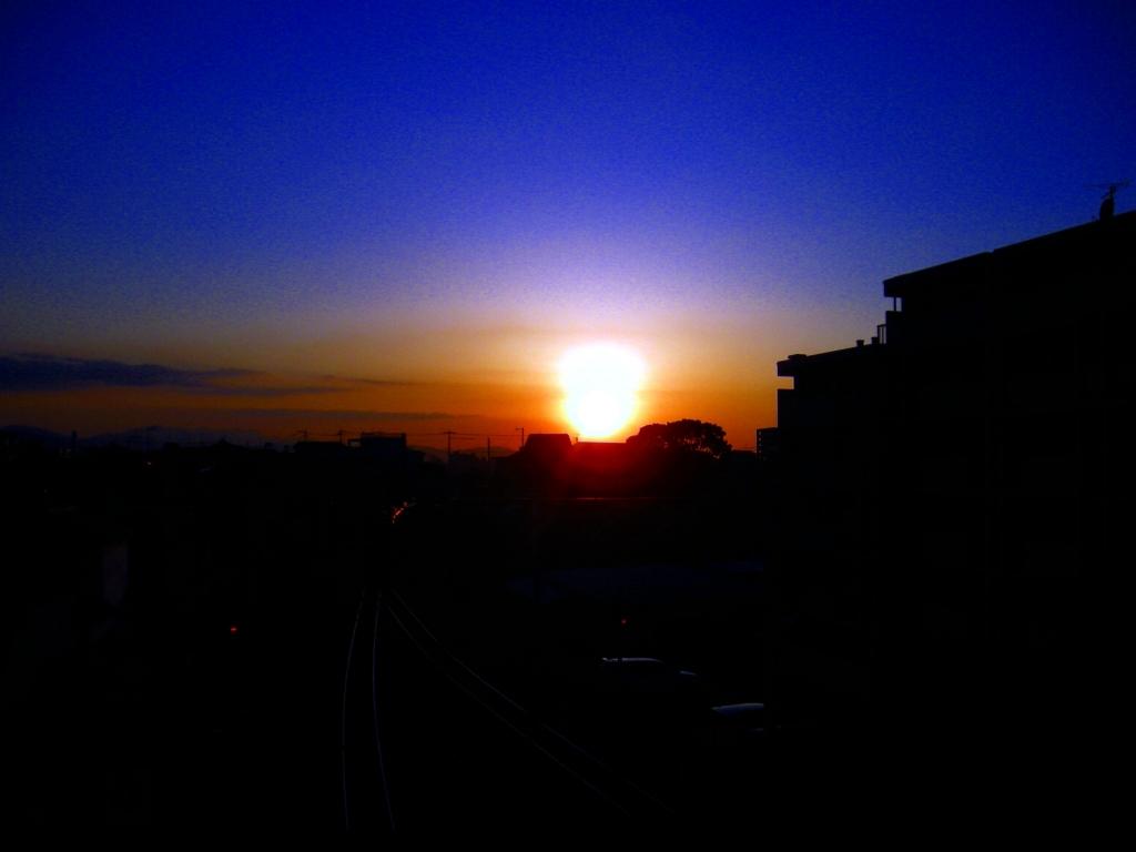 博多に沈む夕日