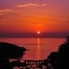 沈みゆく夕日