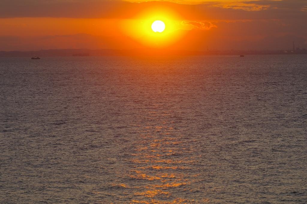 海ほたるの夕日