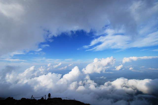 富士登山の眺望