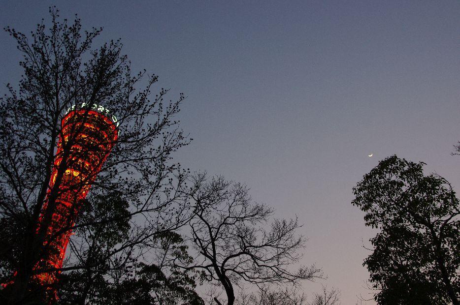 月と塔と影絵