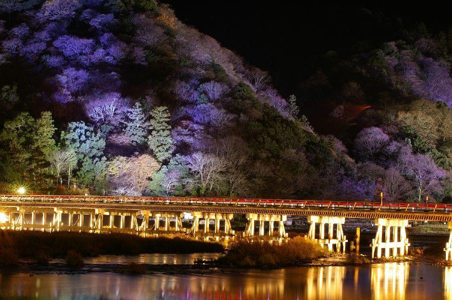 光の渡月橋