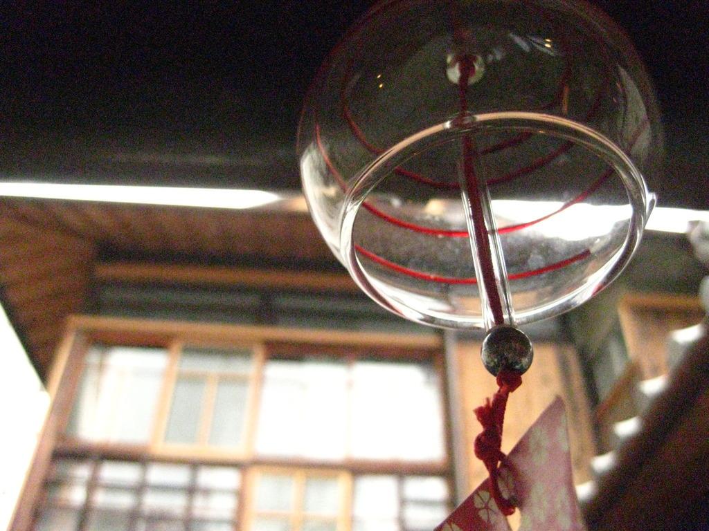 赤い糸の風鈴