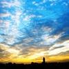 青空と夕暮れ