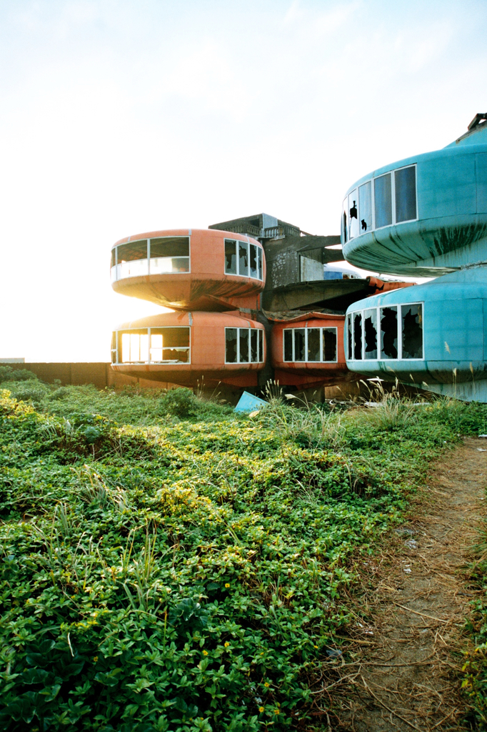 夕暮れのUFO屋敷