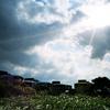 UFO屋敷と太陽 -LOMO LC-A-