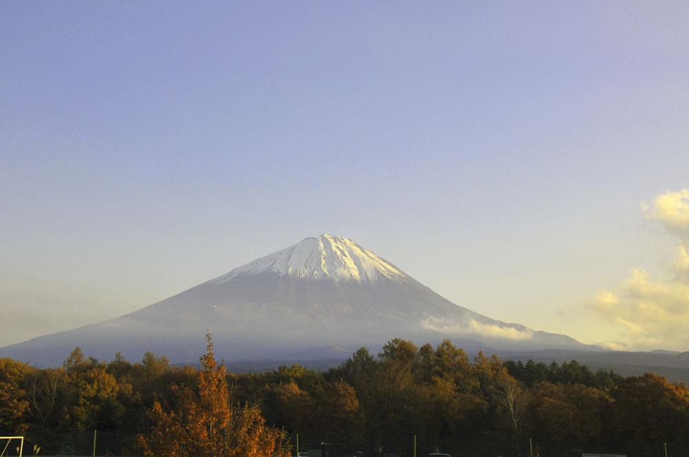 夕方の富士山