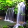 自然に囲まれた阿蘇の滝