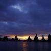 橋杭岩(はしくいいわ)の日の出1