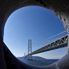 明石海峡大橋と夢レンズ