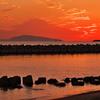 秋の播磨灘の夕日2