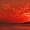 秋の播磨灘の夕日1