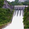 牧尾ダムの放流