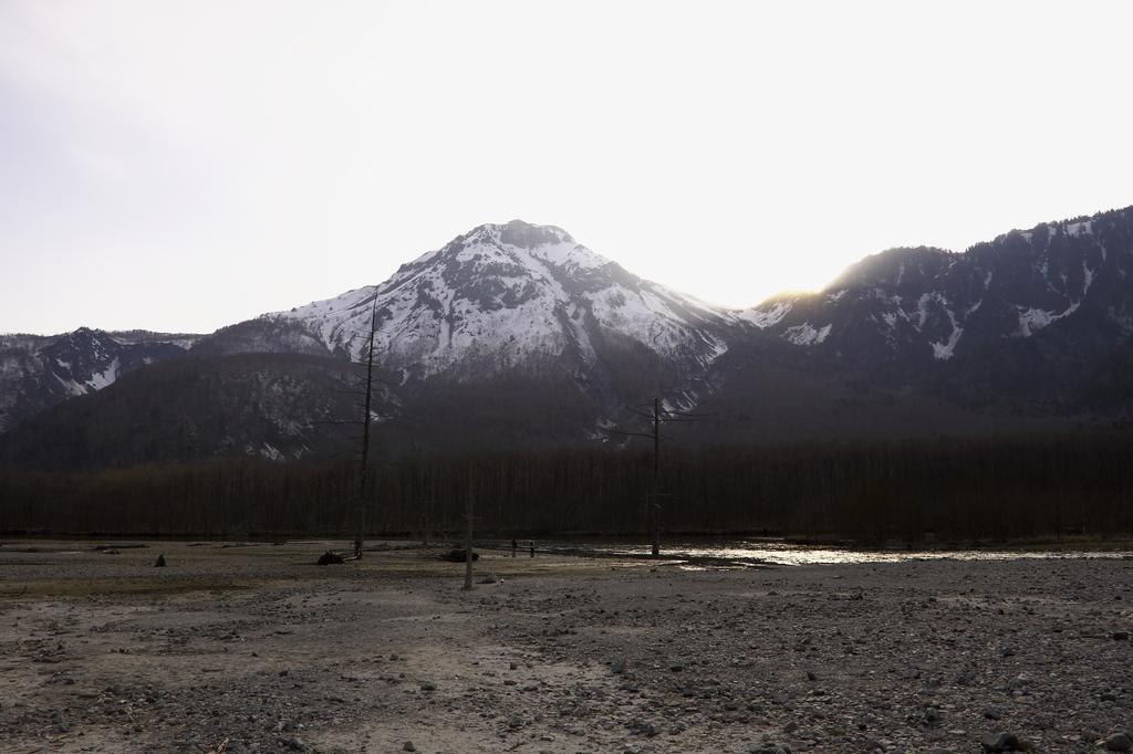 水涸れした大正池