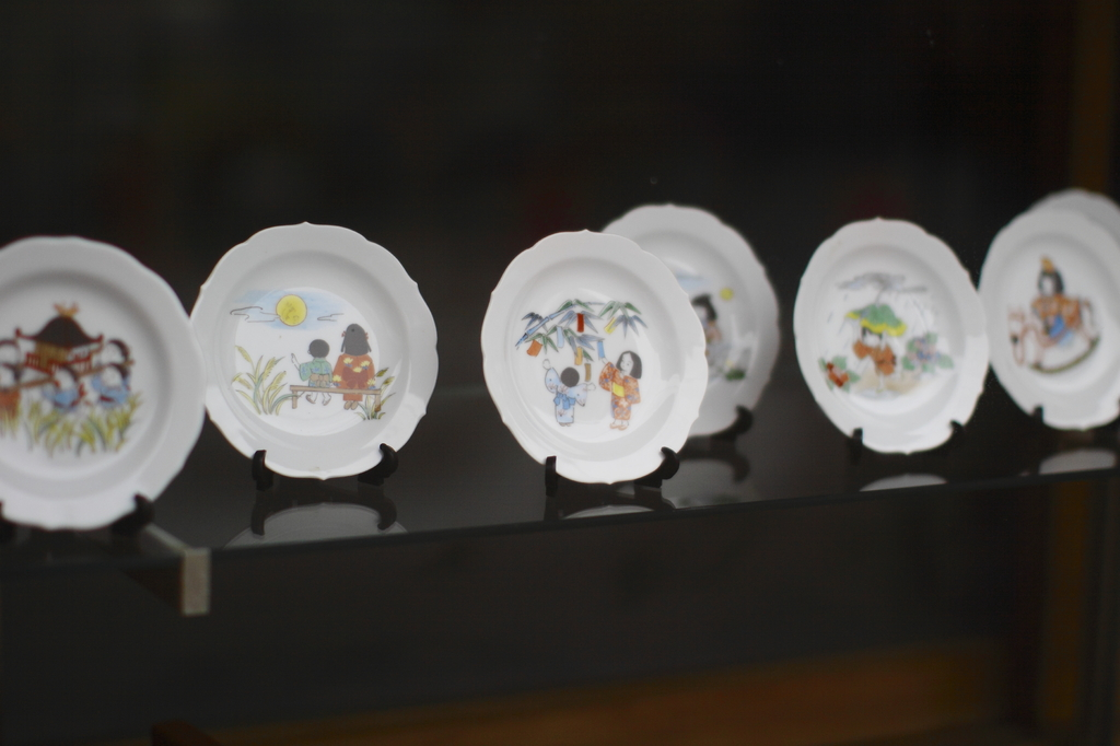 四季の絵皿
