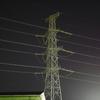 月夜の電信柱