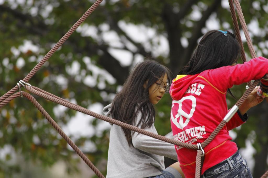 ロープを使った回転式ジャングル・ジム