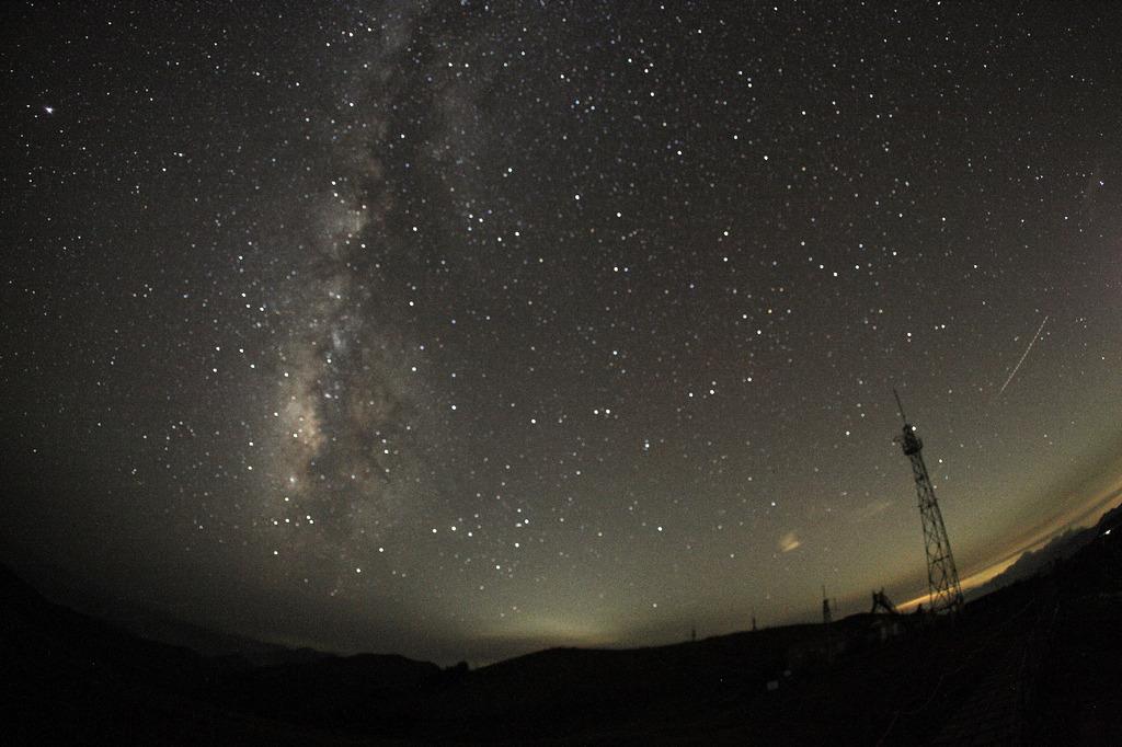 剣山山頂の星空