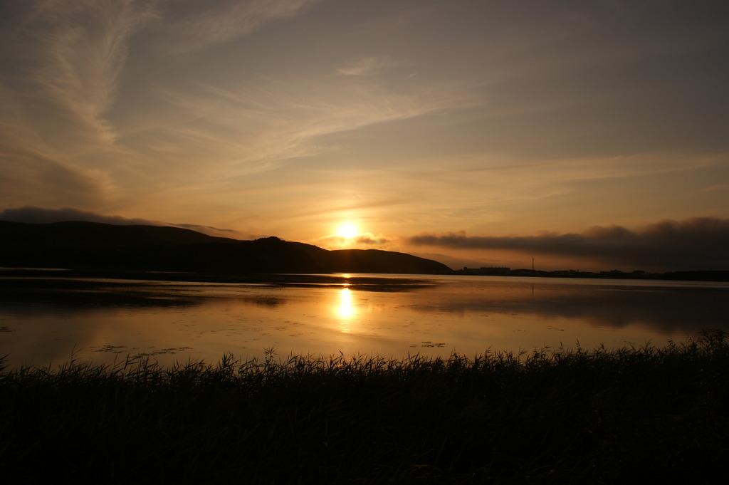 久種湖夕日