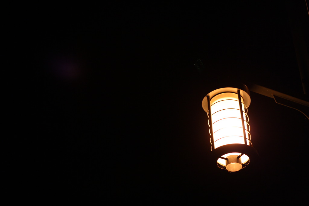 提灯街灯。
