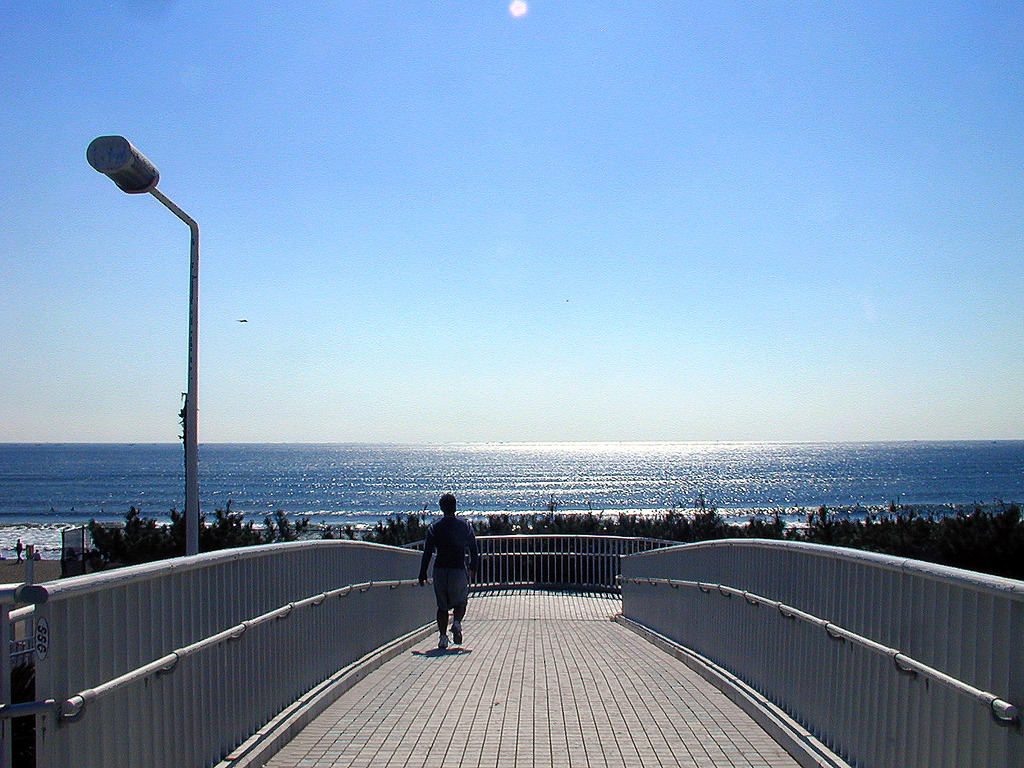 歩道橋にて1
