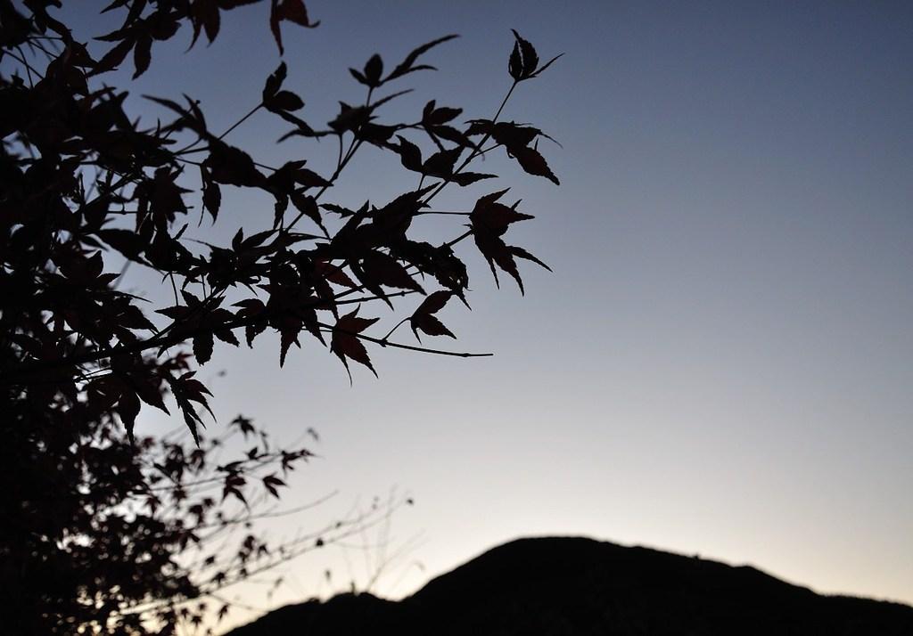 日も沈み…