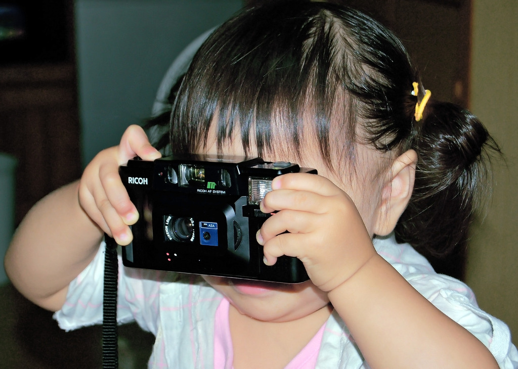 ひ孫のカメラウーマン