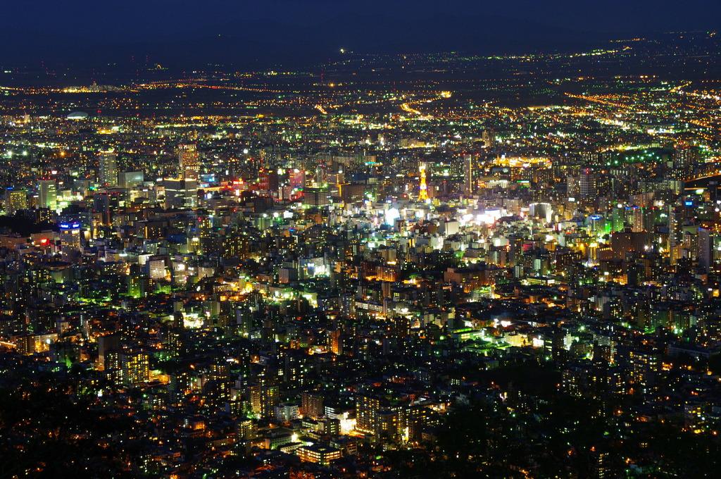 藻岩山から札幌の夜景⑥