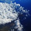 オアフ島上空にて