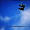 空のスニーカー