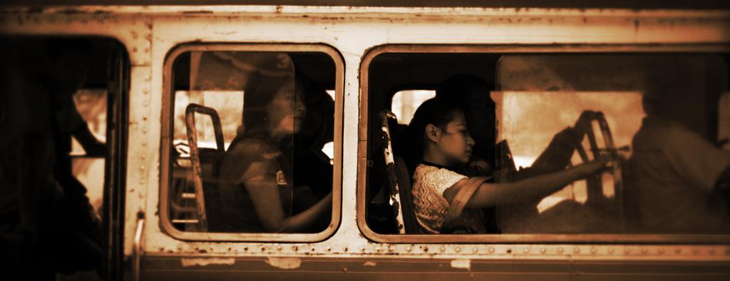 bus in Yangon