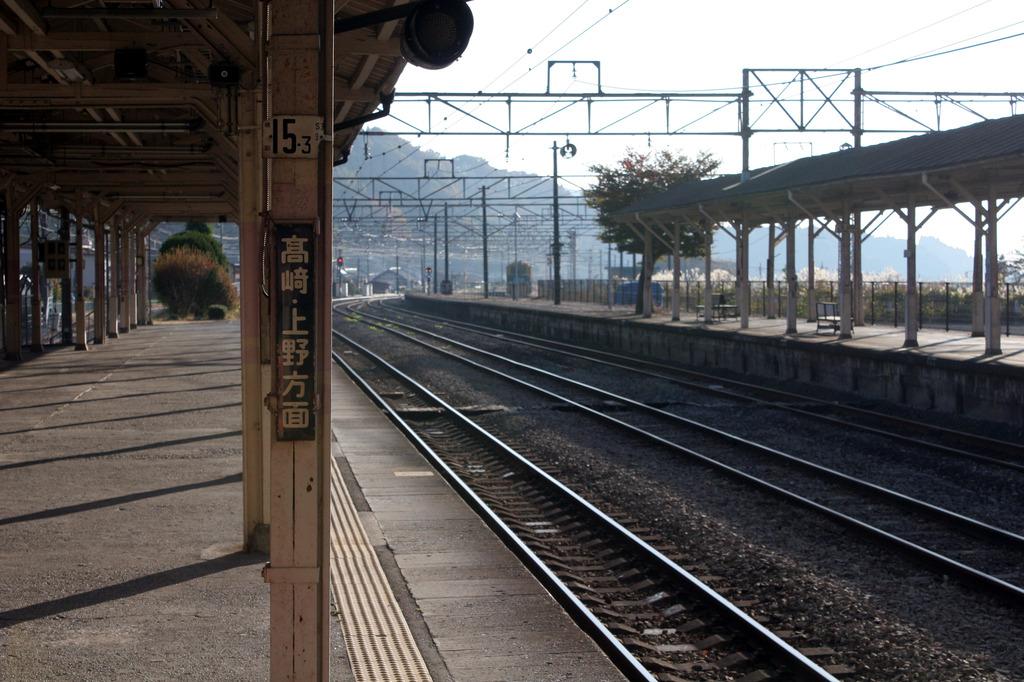 横川駅 朝
