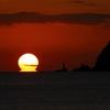 室積海岸のだるま夕日