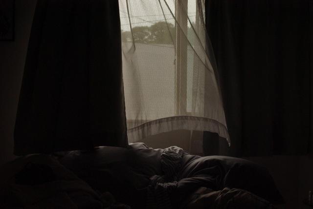 窓を開けた