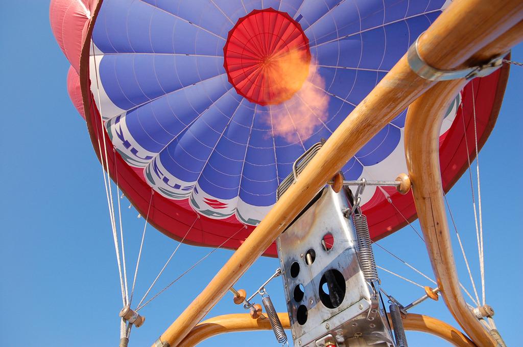 気球の裏側