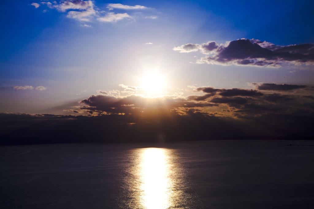 海に沈む夕日に挑戦